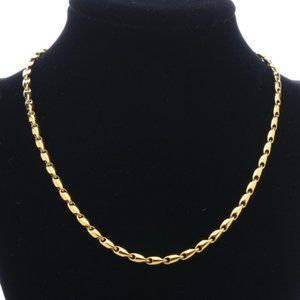 Monet Smooth Gold Chain Necklace - 16 inches